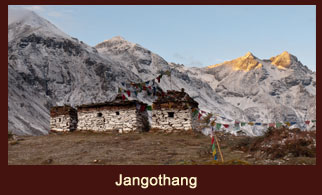 Jangothang, a beautiful campsite that offers great view of Mt. Chomolhari 7326m in Bhutan.