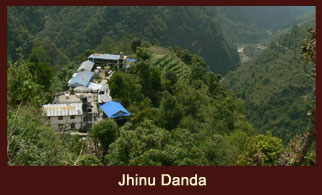 Jhinu Danda, a tiny settlement in the Annapurna region of Nepal.