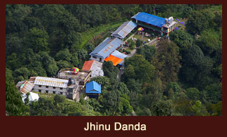Jhinu Danda, a small settlement in the Annapurna region of Nepal.