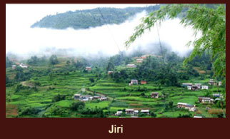 Jiri, a busy town in the Dolakha district of Nepal, which also happens to be the starting point of some of the treks in the Everest region.