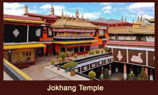 Jokhang Monastery is located on Barkhor Square in Lhasa, the capital city of the country of Tibet.