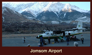 Jomsom, a beautiful city in the Annapurna region of Nepal.