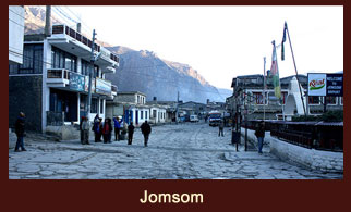 Jomsom, is a town located at Annapurna Region in Mustang District, Nepal.