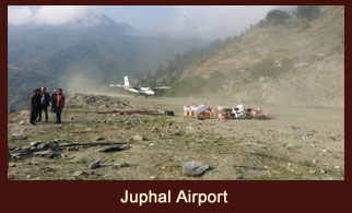 Juphal Airport, a domestic airfield in the Dolpo district of Nepal.