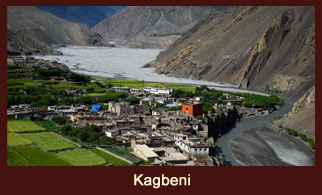 Kagbeni, a typical stone built village in Mustang district of the Annapurna region in Nepal.
