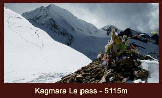 Kagmara La Pass (5115m), a famous mountain pass in the far western region of Nepal.