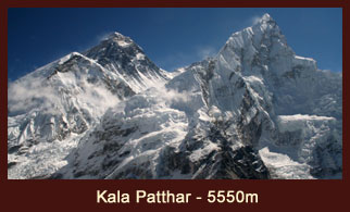 Kala Patthar, meaning 'black rock' in Nepali and Hindi, is a notable landmark located on the south ridge of Mt. Pumori in the Nepalese Himalayas.