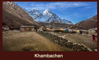 Khambachen, the Tibetan village in the Kanchenjunga region of Nepal.