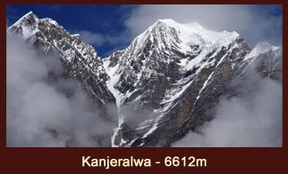 The stunning view of Mt Kanjeralwa (6612m) in the far western region of Nepal.
