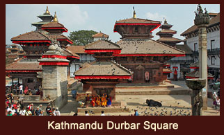 Kathmandu Durbar Square, the enticing conglomeration of ancient arts and craftsmanship in Nepal.