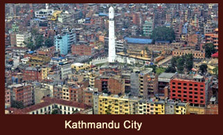 Kathmandu, the energetic capital city of Nepal.