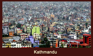 Kathmandu, the busy and flamboyant capital city of Nepal.