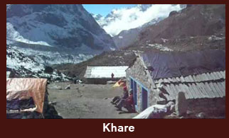 Khare, a beautiful camping spot in the Everest region of Nepal that offers stunning views of Mera Peak (6654m).