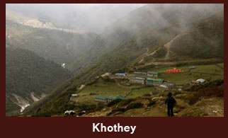 Khothey, a village in the Everest region of Nepal.