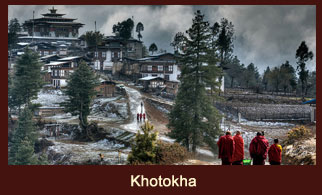 Khotokha, a beautiful wide valley in Bhutan.