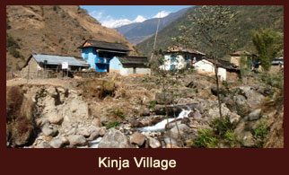Kinja, a buslting village in the Solukhumbu district of Nepal.