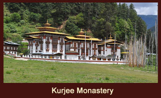 Kurjee Lhakang, also known Kurjee Monastery, is located in the Bhumtang valley in the Bhumtang district of Bhutan.