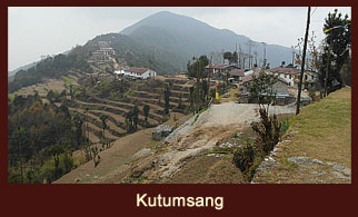 Kutumsang, a village in the Langtang region of Nepal, where the office of the Langtang National Park is located.