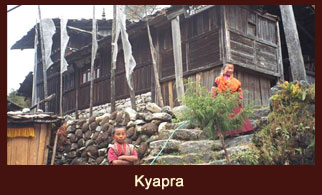Kyapra, the last Tibetan themed settlement in the Kanchenjunga region of Nepal.