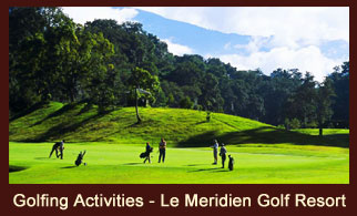 Enjoying Golf at the Le Meridian Golf Resort, in Gokarna, Nepal.