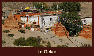 Lo Gekar, also known as 'Ghar Gompa' or 'House Temple' is one of the major attractions in the Annapurna region of Nepal.