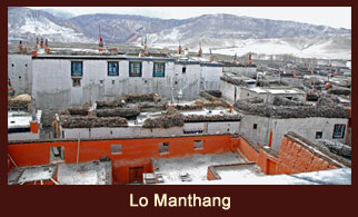 Lo Manthang, a rescticted zone in the Annapurna region of Nepal that requires special permits for access.