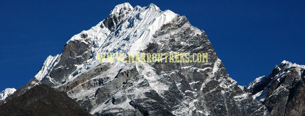 The Lobuche Peak in the Everest region of Nepal consists of two different summits, viz. East (6119m) and West (6145m).