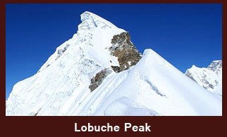 Mt. Lobuche (6145m) lies close to the Khumbu Glacier in the Everest region of Nepal.