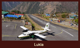 Lukla, a town in the Solukhumbu district of Nepal, which happens to be the starting point of most of the treks in the Everest region.