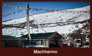 Machhermo, the last major settlement on the way to Gokyo in the Everest region of Nepal.