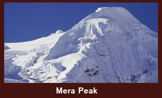 Mera Peak (6654m), one of the most frequently climbed peaks in the Everest region of Nepal.