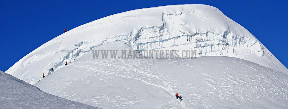Mera Peak (6654m) is the highest permitted climbing peaks located in the Everest region of Nepal.