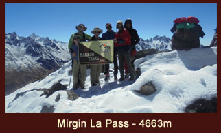 Mirgin La (4663m), one of the high elevation passes in the Kanchenjunga region of Nepal.