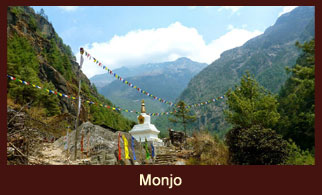 Monjo, a beautiful and tranquil settlement in the Everest region of Nepal..