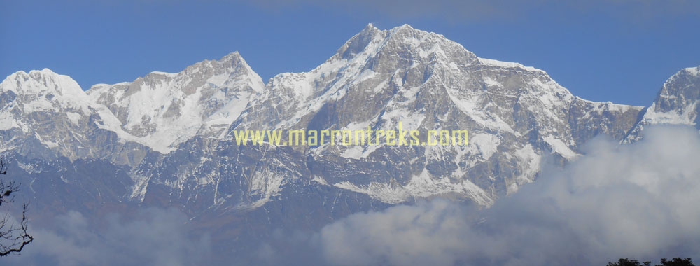 Mt. Manaslu 8163m, the 8th highest mountain in the world located in the Manaslu region of Nepal.
