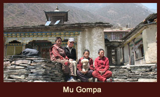 Mu Gumba, one of the high altitude monasteries in the Tsum Valley of Annapurna region, Nepal.