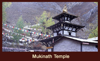 Muktinath, one of the famed pilgrimage sites for Hindus and Buddhist, located in the Annapurna region of Nepal.