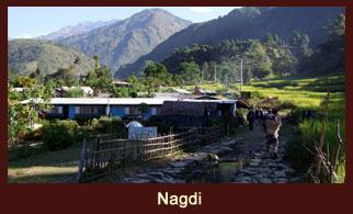 Nagdi, a small settlement in the Annapurna region of Nepal.