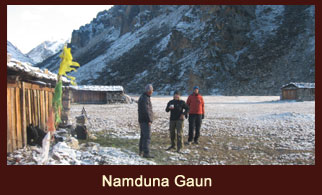 Namduna Gaun, an interesting small hamlet in the far western region of Nepal that merely constitutes six stone houses.
