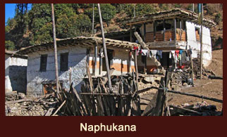 Napukhana, a village in the far western region of Nepal known for its huge monastery known as Urgen Sanga Chholing.