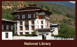 National Library, an extensive collection of priceless Buddhist manuscripts and textiles in Thimphu, Bhutan.