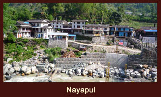 Nayapul, the gateway to some of the major treks in the Annapurna region of Nepal.