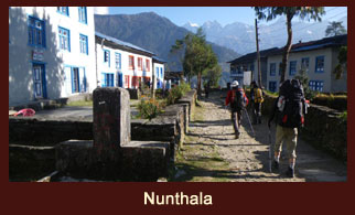 Nunthala, a settlement in the Everest region of Nepal.