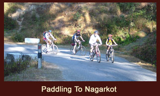 Paddling to Nagarkot, a beautiful hill station near Kathmandu, Nepal.
