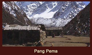 Pang Pema, the North Base Camp of Mt. Kanchenjunga, Nepal.