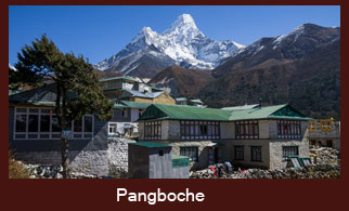 Pangboche is a village in Khumjung VDC of Solukhumbu district in Nepal.