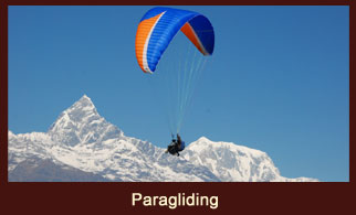 Paragliding in Nepal from Sarangkot to Pokhara offers some of the most breathtaking mountain views.