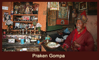 Praken Gompa, a monastery located in Manang, Annapurna region, Nepal.