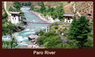 The Paro river flows in western Bhutan.