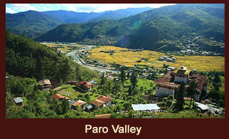 Paro, a lovely historic town of Bhutan.
